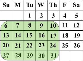 Sulap Matematika Trik Pada Kalender